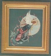 """Grille LAVENDER & LACE """" Blue Moon Angel """" - Point De Croix"""