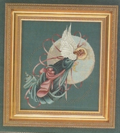 "Grille LAVENDER & LACE "" Blue Moon Angel "" - Cross Stitch"