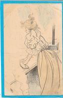 HENRI BOUTET - Femme Au Fer à Repasser De La Série Blanchisseuses N° 116 - Boutet