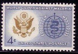 1962 USA World United Against Malaria Stamp Sc#1194 Health Eagle Snake WHO Seal Medicine - Celebrations