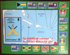 Montserrat 2007 Cricket World Cup Minisheet MNH - Montserrat