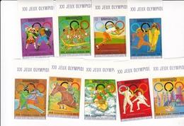 Cambodge - République Khmere - 9 TIMBRES Non Dentelés - Jeux Olympiques De Munich à Montreal 1976 - Neufs** - Cambodge