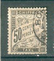 FRANCE ; TAXES ; Type Duval ; 1881-92 ; Maury N° 20  ; Oblitéré - Taxes