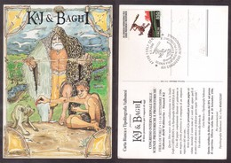 YN104    Italia,special Card And Special Postmark 1996 Forli, Prehistoric Sciences - Preistoria