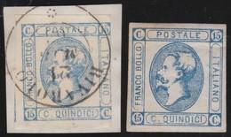Italy .  Yvert    .    10/11         .    O   .   Cancelled   .    /   .   Oblitéré - 1861-78 Vittorio Emanuele II
