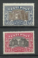 Estland Estonia 1924/27 Michel 56 & 62 * - Estland