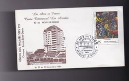 """Enveloppe  Philatelique , Exposition  """" Les Arts En France """" 93 NOISY LE GRAND  24 Novembre 1984 - Autres Collections"""