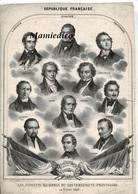Affichette 24 Février 1848: Les Citoyens Membres Du Gouvernement Provisoire République Franç. Etat Correct Pour Son âge. - Documents Historiques