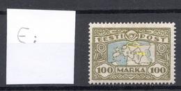 Estland Estonia 1923 Michel 40 + ERROR Abart * Signed - Estonie