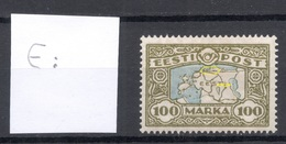 Estland Estonia 1923 Michel 40 + ERROR Variety Abart * Signed - Estonia
