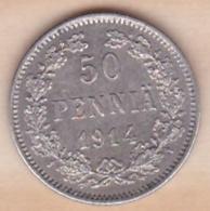 Finlande. 50 Pennia 1914 S . Argent. KM# 2.2 .SUP/XF - Finlande