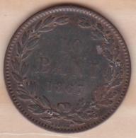ROUMANIE . 10 BANI 1867 HEATON  . KM# 4 - Roumanie