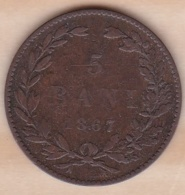 ROUMANIE . 5 BANI 1867 HEATON  . KM# 3 - Roumanie