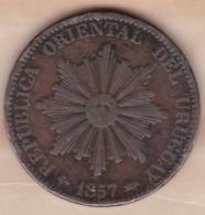 REPUBLICA ORIENTAL DEL URUGUAY. 20 CENTESIMOS 1857 D . KM# 9 - Uruguay