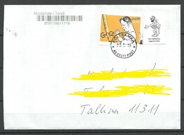 ESTLAND Estonia 2019 Domestic Cover GORI Caricature Artist Art Kunst Corner Stamp As Single - Estland