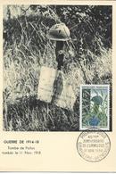 Carte Maximum France, 11/11/1958 , N° 1179 Yt, 40 Ans De L'armistice à Rethondes, Tombe De Poilus - 1950-59