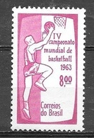 1963 World Championship Basketball, Mint Never Hinged - Brazil