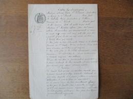 SAINT VARENT  LE 20 DECEMBRE 1905 BAIL PAR Mme MARIE VIVON Vve GERMOND A GABILLY HENRI A RIBLAIRE SAINT VARENT TERRES - Manuscrits