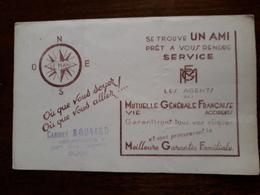 L18/61 Buvard. Mutuelle Générale Française - Bank & Insurance