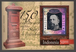 Indonesia - 150th Anniversary Of First Indonesia Stamp (King Willem III) 2014 Hologram Stamps - Indonesien