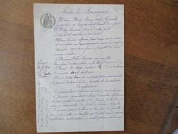 SAINT VARENT  LE 6 DECEMBRE 1909 BAIL PAR Mme MARIE VIVON Vve GERMOND A FELIX SAMSON JARDINIER D'UNE PIECE DE TERRE - Manuscrits