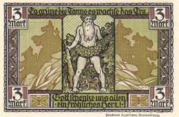 Billet Allemand - 3 Mark - Thale Am Harz 1922 - Stadtwappen, Der Wilde Mann - [11] Emissions Locales
