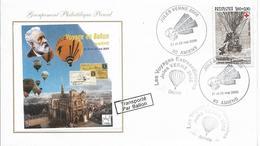 Env Fdc France, 21/5/2005 Amiens, Les Voyages Extraordinaires De Jules Verne, Transporté En Ballon, Montgolfière, - Montgolfières