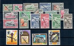 ZANZIBAR 1964 - REPUBBLICA JAMHURI - SOPRASTAMPA A MANO - SERIE COMPLETA MNH** - Zanzibar (1963-1968)