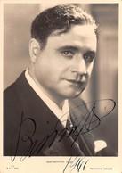 """0936 """"BENAMINO GIGLI - TENORE - 1890/1957"""" AUTOGRAFO. CART. NON SPED - Entertainers"""