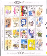 Blok 83** 2858/77** Kuifje, Tintin, Charlie Chaplin, Gandhi, Mandela, Kennedy, Lenin, Eddy Merckx, Edith Piaf - Blocks & Sheetlets 1962-....