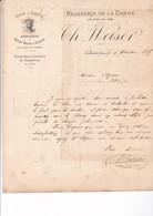 ALCOOL / VALENCE 1885 / BRASSERIE DE LA DROME / SPECIALITES BIERES BRUNES ET BLANCHES / WEISER - Alimentaire