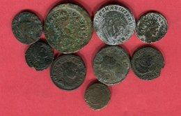 LOT 9 MONNAIES DIFFERENTES  B 18 - 4. Otras Monedas Romanas