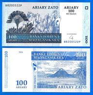 Madagascar 100 Ariary 2004 Neuf UNC 500 Francs Africa Que Prix + Port Billet Paypal Skrill Bitcoin OK - Madagascar