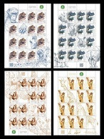 Poland 2018 Mih. 5079/82 Fauna. Small And Large Animals (4 M/S) MNH ** - Ungebraucht