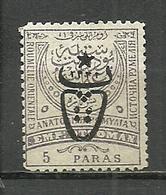 Turkey; 1917 Overprinted War Issue Stamp 5 P. - Ungebraucht