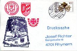 "(BWH1) BRD Cachetumschlag BUNDESWEHR ""XII. Heeres-Skimeisterschaften BODENMAIS 13./17.2.1977"" SSt 15.2.1977 BODENMAIS - [7] Repubblica Federale"