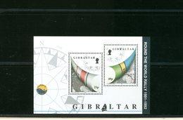 GIBILTERRA  GIBRALTAR  -  BF  FOGLIETTO   CARTA GEOGRAFICA ROUND THE WORLD RALLY 1991 1992 - Geografia