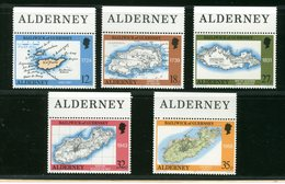 ALDERNEY  -  BAILIWICK  Of GUERNSEY  MAPPA   CARTA GEOGRAFICA  -  NUOVI MNH - Alderney