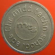 KB078-1 - MTS Technische School Ede - Ede - WM 22.5mm - Koffie Machine Penning - Coffee Machine Token - Firma's
