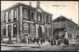 Faulquemont 1918 Falkenberg L'Ecole Avec Charrette Et Beaucoup D'enfants éditeur Isidor Schmitt Non Circulée - Faulquemont