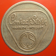 KB086-1 - CONRAD STORK HAARLEM HOLLAND - Haarlem - WM 22.5mm - Koffie Machine Penning - Coffee Machine Token - Firma's