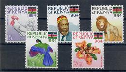 KENIA 1964 - FLORA E FAUNA - ANIMALI - UCCELLI - SERIE COMPLETA - MNH ** - Kenia (1963-...)