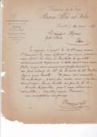 ALCOOL / GRENOBLE 1889 / BRASSERIE DE LA FRISE / BRUN PERE ET FILS / BIERES BRUNES ET BLANCHES - Alimentaire
