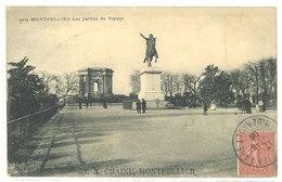 """MONTPELLIER - Les Jardins Du Peyrou - Beau Cachet Octogonal """"L-. X. Chaine - Montpellier     (111710) - Montpellier"""