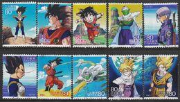 Japan 2012 - Animation Hero And Heroine - Series 17 - Dragon Ball Z Kai 1,5 Million Issued - 1989-... Emperador Akihito (Era Heisei)