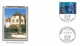 Schweiz FDC 1386 - 700 Jahre Stadt Delémont, Gebäude, Brunnen, Architektur - Fontaine - Zwitserland