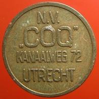 KB091-1 - N.V. COQ - Utrecht - B 20.0mm - Koffie Machine Penning - Coffee Machine Token - Rooster - Hahn - Haan - Firma's