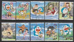 Japan 2013 - Animation Hero And Heroine - Series 20 - Doraemon 1,5 Million Issued - 1989-... Emperador Akihito (Era Heisei)