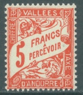 ANDORRE  - 1938-1941 - FOR ME THIS STAMP IS MNH/** BUT I SELL IT AT THE PRICE OF MH/*   - Yv TX 20  -  Lot 19139 - Neufs