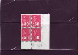N° 1664 - 0,50 F BEQUET - Sans PHO - 13.04.1971 - - Hoekdatums